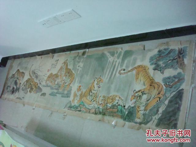 南京画家张禄玉画作《群虎图》-南京市老干部书画联谊会