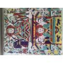 八十年代木板年画《灶王爷》