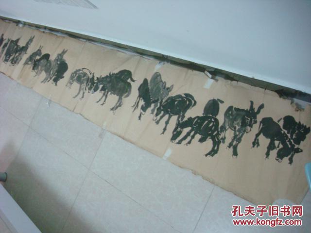 南京画家张禄玉画作《群骡图》-南京市老干部书画联谊会