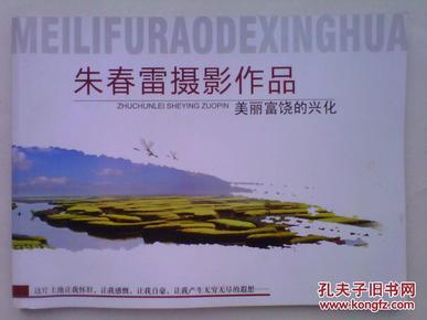 朱春雷摄影作品 美丽富饶的兴化(作者签名本 全铜版纸印刷)