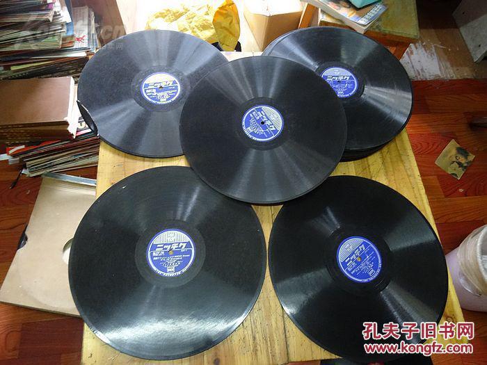 8592: 日文老唱片《ニ ? 千ケ 歌剧 LA BOHEME(PUCCINI)《波希米亚人》(普契尼)》13张有装唱片的盒子,日文的看不懂请看图