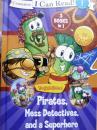英文原版   少儿绘本 I can read! Level 1:Pirates,Mess Detectives,and a Superhero    海盗,侦探和超级英雄(3 Books in 1)