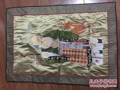 清末民初老寿星刺绣,非常精美,保存不错