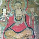 清乾隆年水陆画:如来佛画像,纸本彩色手绘,绘画精美,包老包真