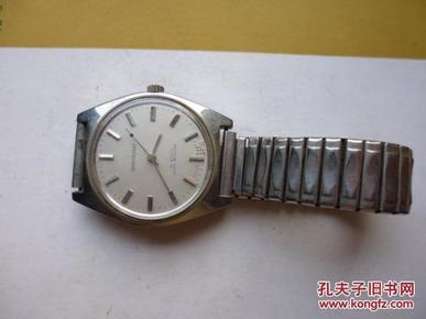 老的上海牌全钢防震手表一块