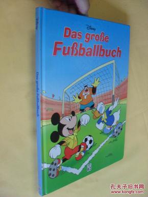 德文原版 绘图本 迪斯尼故事 Das große Fußballbuch. Disney  Grabis, Bettina, Kienitz, Günter W.