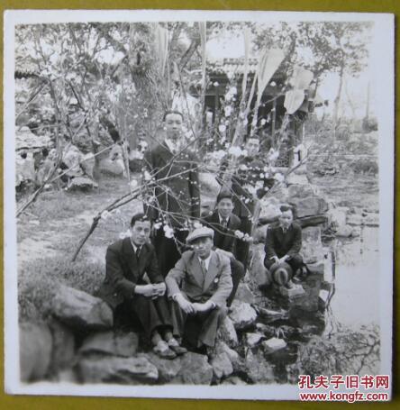 民国老照片:民国上海南翔镇,古猗园