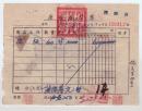老票证珍贵史料:西北各民主党派干部训练班  1951年 西安市税务局座商发货票 开办费    贴5张 印花税票