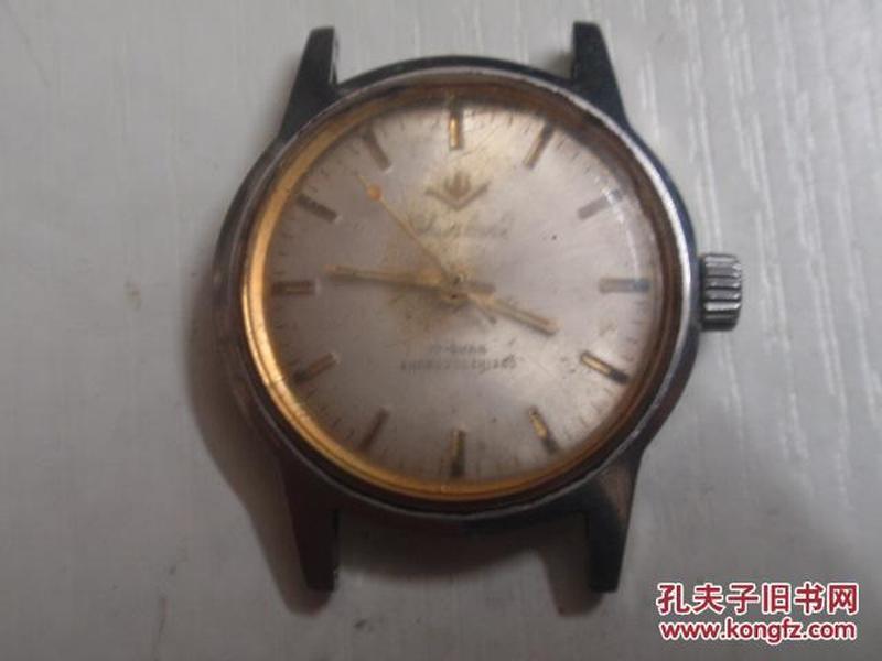丹东产春兰牌17钻中性全钢防震机械手表