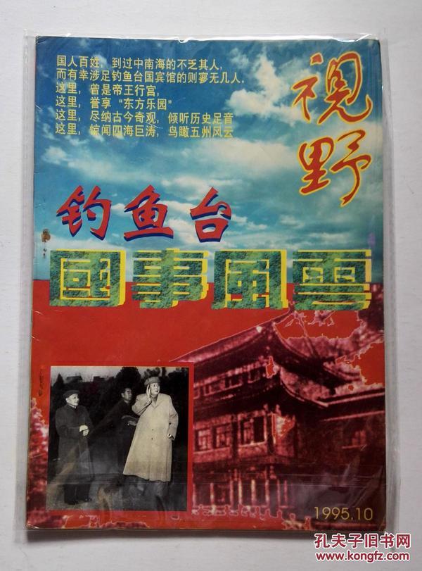 视野  钓鱼台国事风云  1995/10(总第55期) 赠送书籍保护袋