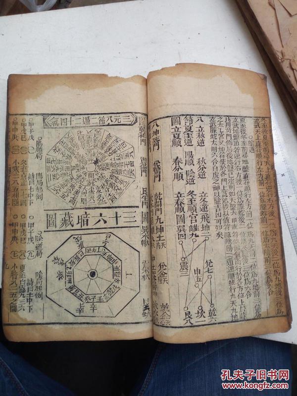 象吉備要通書日用卷十四,時用卷十五,奇門卷七八九。合訂巨厚一冊。