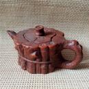 宜兴名家纯手工紫砂壶原矿紫泥镂空树桩茶壶茶具摆件.
