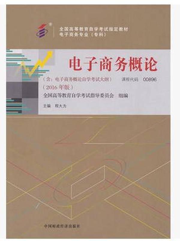 00896 00895自考教材 27040 电子商务概论 程大为 中国财政经济