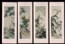 老国画书签   梅、兰、菊、竹