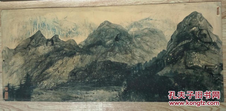 上世纪八十年泼漆画,南京名家创作。