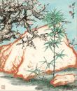 微喷巨幅国画  关山月 三清图82-95厘米