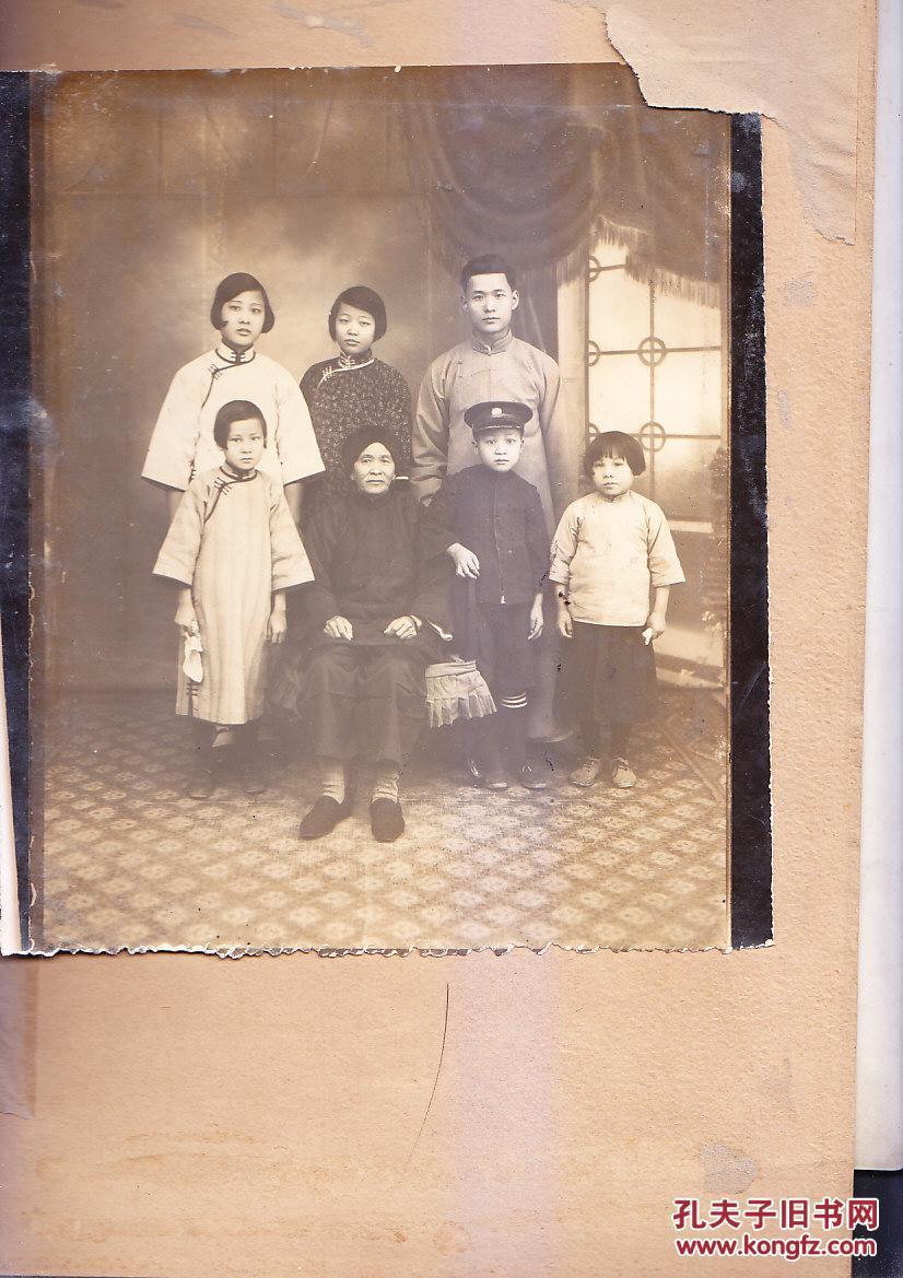 民国到五十年代汕头地区大户人家照片15张 有5张重复  尺寸大
