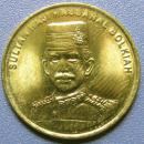 文莱硬币1仙--早期外国硬币、钱币甩卖--实拍--保真,