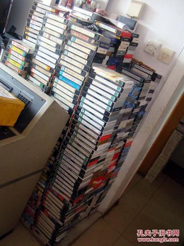 录像带;一批录像带一起出大概1万多盘6元一盘,都是正常播放