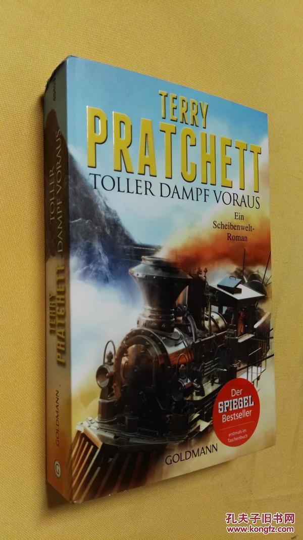 德文原版小说 Toller Dampf voraus,Terry Pratchett(raising steam)
