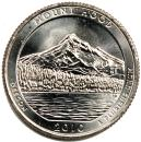 25美分硬币 四分之一美元 QUARTER DOLLAR Mount Hood 2010