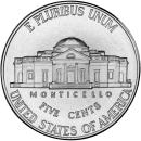 5美分硬币 FIVE CENTS MONTICELLO  2010 P