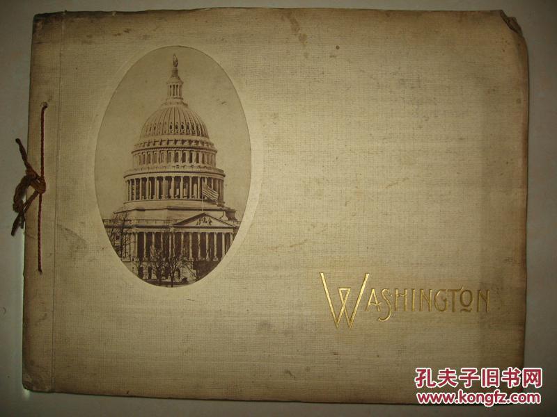 民国精品画册 美国早期写真《华盛顿写真》贴画形式  英文原版 珂罗版印制精美彷如照片