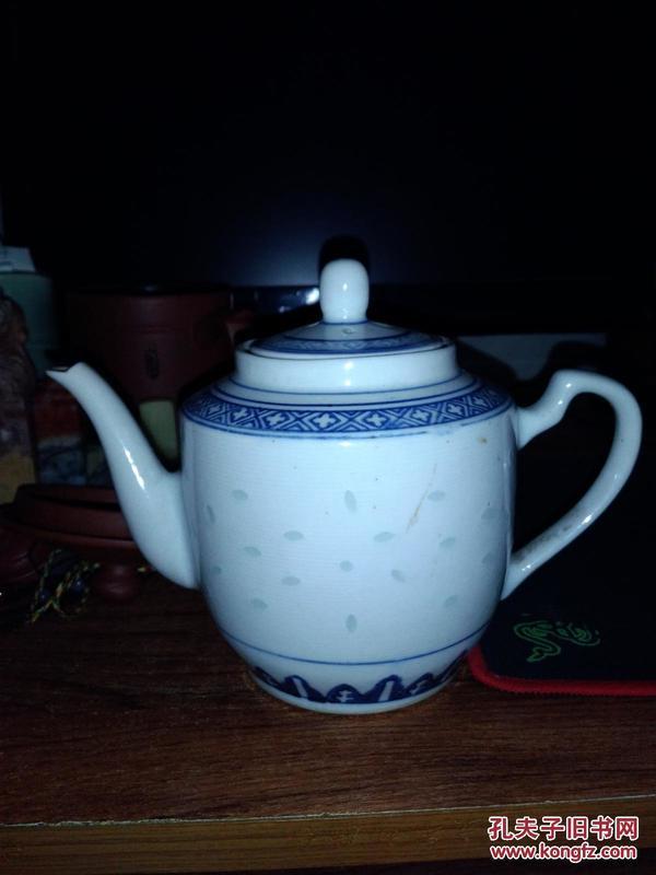 景德镇玲珑瓷茶壶