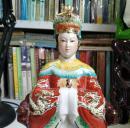 德庆悦城龙母娘娘神像 完整无伤 制作精美 开脸好