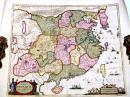 稀见彩色手工上色1660年中国地图 465x525毫米 Imperii Sinarum Nova Descriptio, auctore Jah, van Loon.