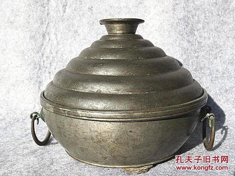 清代维扬谈湧茂造款塔式锡锅锡器