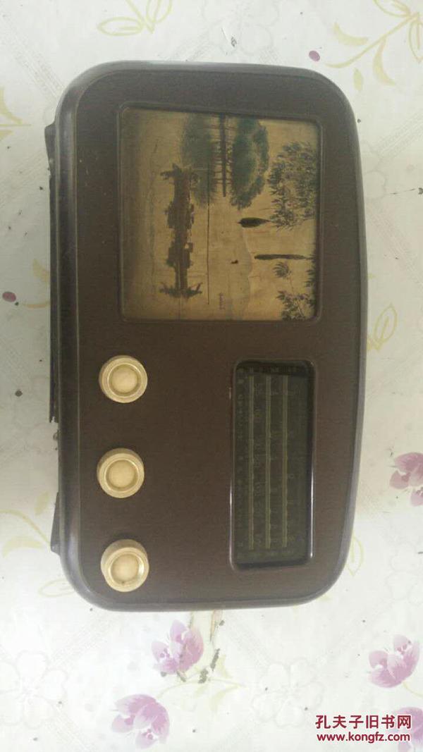 老红星牌胶壳504-3型收音机南京东方无线电厂 却后壳