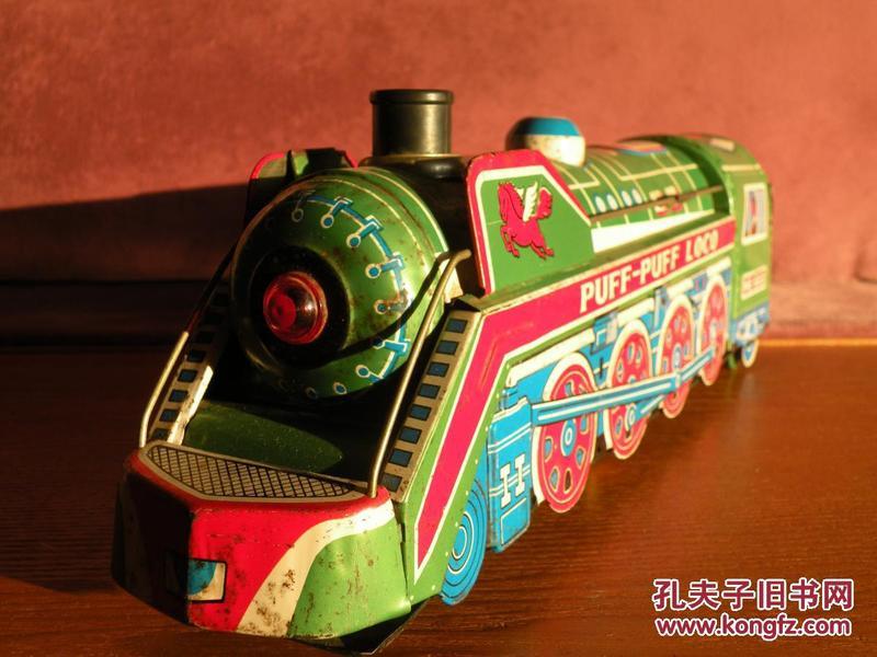 7,80年代 經典鐵皮火車頭鐵皮玩具