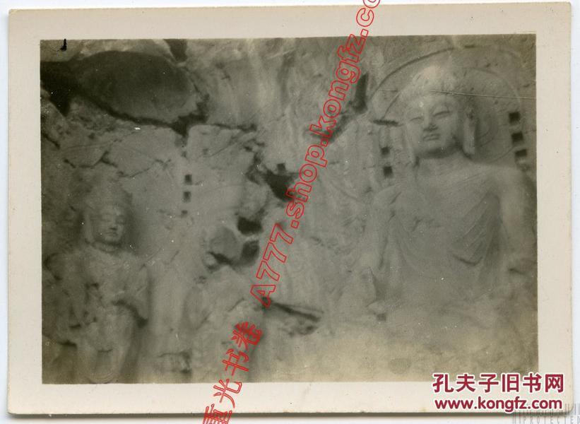 民国 河南 洛阳 6帧  龙门石窟卢舍那佛 力士、万佛洞、佛寺、万佛沟马队等 老照片