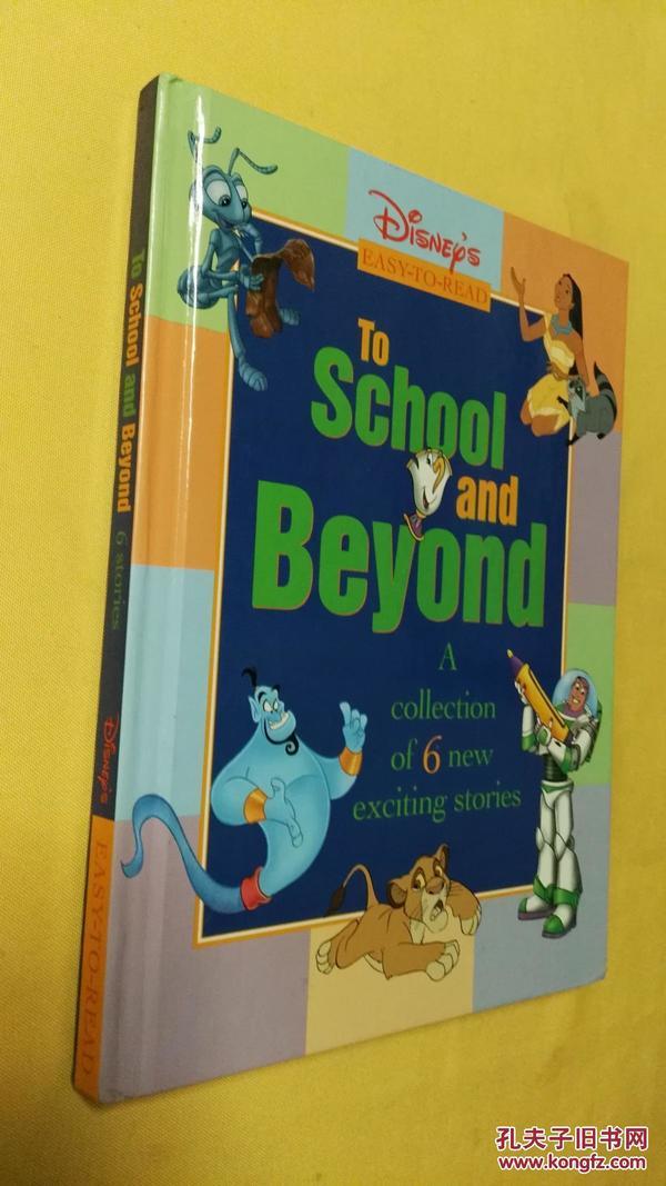 英文原版 绘图本 迪斯尼故事大 Disneys To School & Beyond Storybook