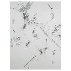 大来文化 吴浩 真迹字画 当代水墨大师 知名画家作品 收藏国画宣纸包邮00163