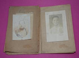 老照片 2张带纸板