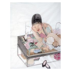 大来文化 吴浩 真迹字画 当代水墨大师 知名画家作品 收藏国画宣纸包邮00167