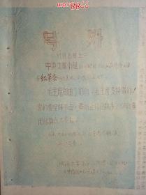 号外 :中央文革小组就《解放日报》事件给上海市红革会的来电(油印)