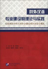 对外汉语专业建设的理论与实践