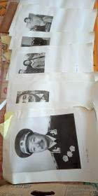 贺龙 照片 36张(黑白)(和家人 120师战斗篮球队 周恩来和历次世界冠军 聂荣臻和智取威虎山剧组 等照片)