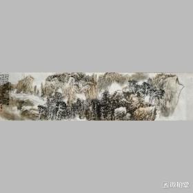 作品名称:黄山松云作品尺寸:四尺对开