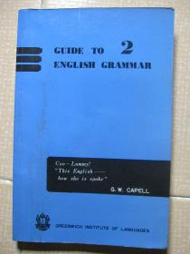 GUIDE TO 2 ENGLISH GRAMMAR(英语口语语法)