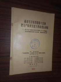 高举毛泽东思想伟大红旗把无产阶级文化大革命进行到底关于无产阶级文化的革命的40个问题从毛主席著作及党中央文件.社论中找答案