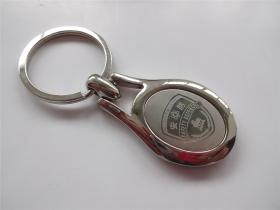 徽章  早期南京安防全钢钥匙串   原盒装