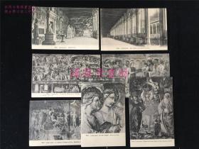 100年前左右的欧洲明信片7张:基督教天主教人物壁画、石雕、比萨圣墓园、Italia, Pisa, Campo Santo。画面蛮清晰。民国初期之物,现存世应该不多见了。包邮。