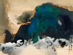 微喷书画 张大千 山水40x30厘米