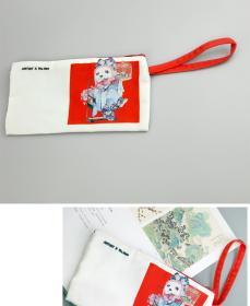 大来文化拉链文件袋帆布考试笔袋子小号产检发票据零钱袋小手拿包