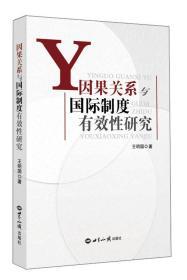 正版 因果关系与国际制度有效性研究 王明国 世界知识出版社