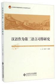汉语作为第二语言习得研究